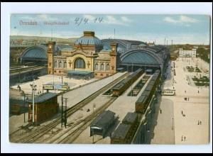 XX003474-01./ Dresden Hauptbahnhof 1914 AK