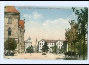 XX003233/ Zagreb Straßenbahn AK Kroatien 1929