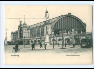 XX003266/ Hamburg Dammtorbahnhof Straßenbahn AK 1904