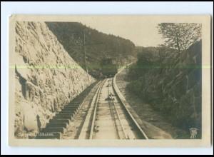 XX003260/ Bergen Flöibanen Bergbahn Norwegen Foto AK 1919
