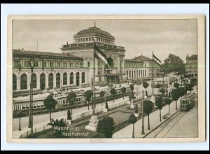 XX003458/ Mannheim Hauptbahnhof Straßenbahn AK
