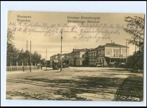 XX003341/ Polen Warschau Petersburger Bahnhof 1916 AK