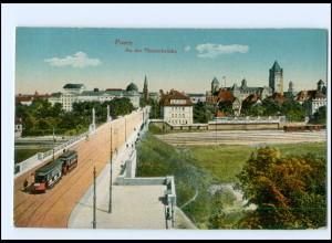 XX003319/ Posen An der Theaterbrücke Straßenbahn 1915 AK