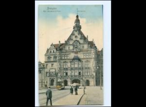 XX003487-01./ Dresden Kgl. Residenz-Schloss Georgentor Straßenbahn 1907 AK