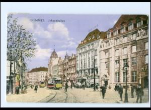 XX003489-091./ Chemnitz Johannisplatz Straßenbahn 1915 AK