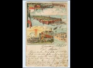 XX004572/ Gruß aus Helgoland Litho AK 1899