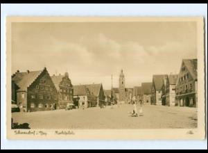 XX003447/ Schwandorf Marktplatz 1938 Foto AK
