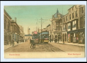 XX003335/ Groß Britannien West Hartlepool Church Street Straßenbahn 1912 AK