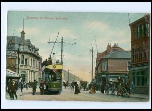 XX003336/ Groß Britannien Freeman St. Corner Grimsby Straßenbahn AK