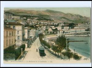 XX003327/ Monte-Carlo Le Boulevard de la Condamine Straßenbahn AK