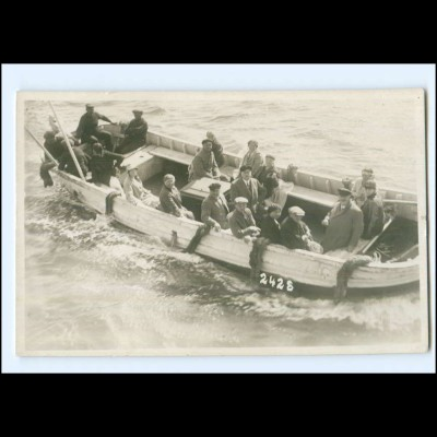 XX003296/ Helgoland Ausschiffung Börteboot Foto AK 1930