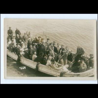 XX003297/ Helgoland Ausschiffung Börteboot Foto AK 1928