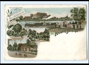 XX009791/ Hamburg Gruß aus Neuengamme Litho AK 1899