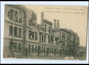 XX003304/ Saarburg in Lothringen Art. Kaserne zerstört AK 1914 1. Weltkrieg
