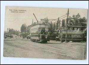 XX004524/ Hampton Court , The Tram Terminus Straßenbahn AK 1908 Großbritannien