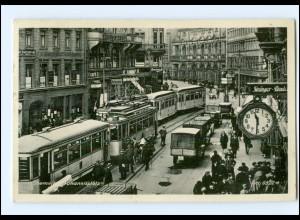 XX004635/ Chemnitz Johannisplatz Straßenbahn AK 1938