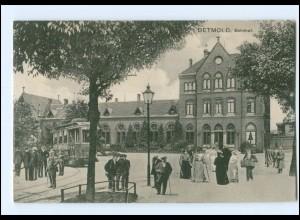 XX004290/ Detmold Bahnhof Straßenbahn AK 1912