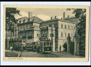 XX004600-017/ Kreischa Sanatorium Straßenbahn AK ca.1940-50