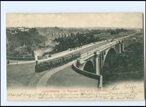 XX003666/ Luxemburg Pont et la Passerelle Eisenbahn AK 1908 AK