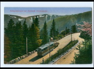 XX008856 Schluchstraße mit Hohneck Bergbahn Tramway Elsaß AK ca.1912