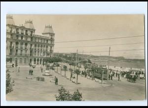 XX004598/ Santander Straßenbahn Foto AK Spanien ca. 1912