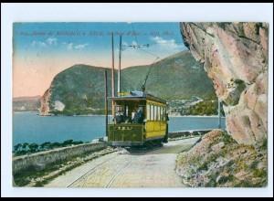 XX004599/ Route de Monaco à Nice Nizza Straßenbahn AK 1913