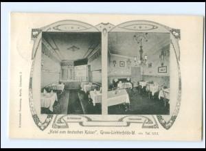 XX004615/ Berlin Gross-Lichterfelde Hotel zum deutschen Kaiser AK 1908
