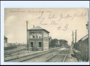 XX003683/ Braine-le-Comte Belgien Eisenbahnstrecke AK 1914