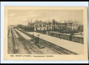 XX004610/ Brest-Litowski Bahnhof Weißrussland AK ca.1915
