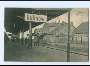 XX003842/ Ruhnow Runowo Bahnhof Bahnsteig 1924 Pommern