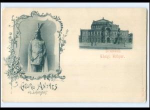 U4376-01./ Dresden Königl. Hofoper Georg Anthes ca.1900 AK
