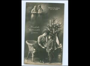 U4529/ Kind Junge in Uniform und Mutter, 1. Weltkrieg Weihnachten Foto AK 1915