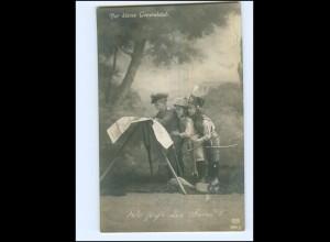 U4528/ Kinder in Uniform 1. Weltkrieg Der kleine Generalstab Foto AK 1915