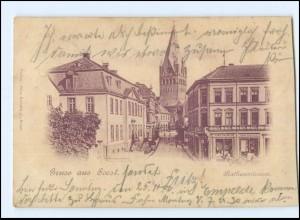 Y10881/ Gruß aus Soest Rathausstraße 1900 AK
