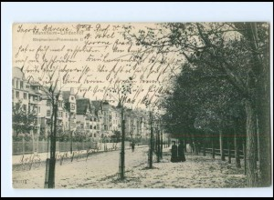 Y10869/ Mannheim-Lindenhof Stephanien-Promenade 1909 AK