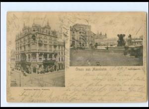 Y10872/ Mannheim Schlossplatz Kaufhaus Merkur 1904 AK