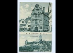 Y10856/ Gemünden Rathaus Festplatz Scheerenburg AK