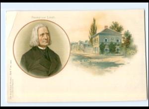 Y10929/ Franz Liszt schöne Litho Ak ca.1900