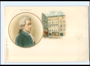 Y10932/ W.A. Mozart schöne Litho AK ca.1900