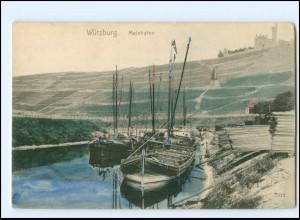 Y10859/ Würzburg Mainhafen ca.1900 AK