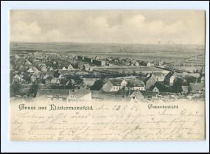 U4386-063./ Gruß aus Klostermansfeld Gesamtansicht 1904 AK