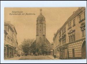 U4383-065./ Sangershausen Kylischestraße mit Marktkirche AK