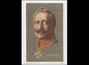U4517/ Kaiser Wilhelm mit Ehrenzeichen AK 1915