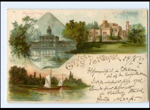 Y10905/ Gruß aus Potsdam 1897 Litho AK