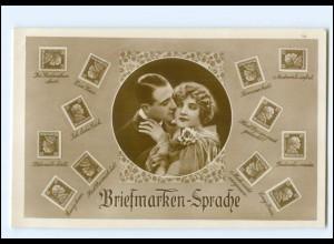 U4465/ Briefmarkensprache Deutsches Reich Foto AK 1928
