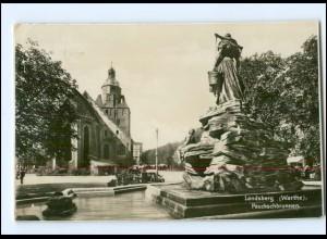 U4675/ Landsberg a. Warthe Pauckschuckbrunnen Foto AK 1935