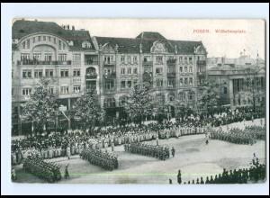 U4603/ Posen Wilhelmplatz AK 1916 Soldaten Parade