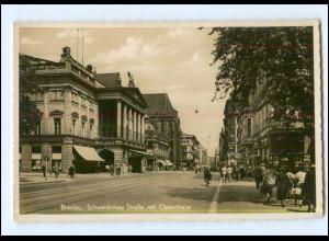 U4608/ Breslau Schweidnitzer Str. mit Opernhaus Foto AK 1942