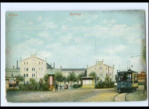 XX004518-027/ Zittau Bahnhof Straßenbahn AK ca.1910
