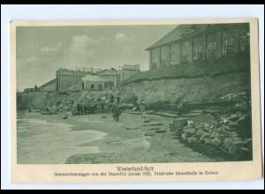 S1815/ Westerland Sylt Sturmflut Trieb`sche Strandhalle Januar 1922 AK